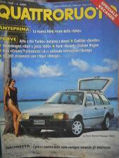 Quattroruote 393 1988 Alfa164 turbo,Cadillac Seville,Ford Escort,Volkswagen Golf
