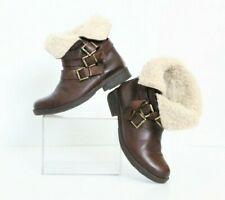 Lavorazione Artigiana Ankle Boots Booties Women's 7 37 Brown Leather Sherpa