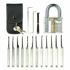 15Pcs/set Unlocking Lock Opener Kit Practice Transparent Padlock Training Tools