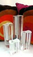 set di quattro vasi soliflore produzione guzzini anni 70 design luigi massoni
