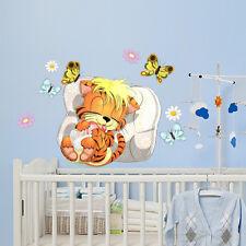 R00067 Wall Stickers Sticker Adesivi Murali Bambini Sogni d'oro tigretto 58x40cm