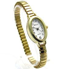 Ravel Ladies Easy Read Oval Quartz Watch Expanding Bracelet Gold #01 R0201.01.2