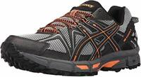 ASICS Mens Gel-Kahana 8 Running Shoe, Black/Hot Orange/Carbon, 10.5 M US