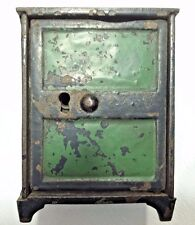 "Collectible Columbia Grey Iron PA ""SAFE BANK"" Cast Iron Still Bank 3 1/2"" Tall"