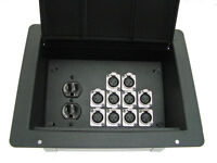 ProCraft Pro Audio Recessed Pocket Floor Box.1 AC Duplex 10 Channels Any Configs