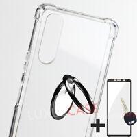 Sony Xperia L4 L3 L2 360Bague Antichoc Silicone Housse Etui Coque + Verre Trempé