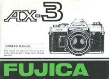 Fuji Fujica AX-3 Instruction Manual original