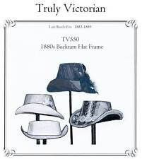 Truly Victorian 1880s Buckram Hat Frame Sewing Pattern TV550 Late Bustle Era
