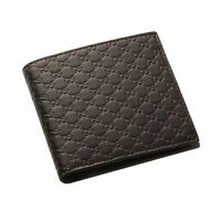 GUCCI Brown Wallet microguccissima Dark T.Morro Zip Around GG Italy Leather New