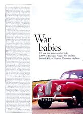 1948 Bristol 401 1951 BMW 501 Original Car Review Report Print Article J961