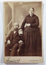 Cabinet Card Vintage Photograph of Man Woman Couple Pottstown PA R Somiesky
