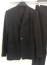 Paul Smith, Men's Suit, Brown Pinstripe,  Cuffed Pants  Size L US   Orig $1100