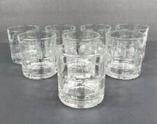 Set of 8 Anchor Hocking Old Fashioned Tartan  00006000 Clear Glass Highball Tumbler Rocks