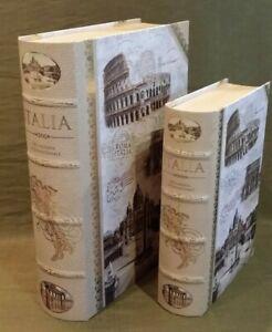 Punch Studio Italia Rome Coliseum Book Boxes Medium & Small
