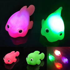 1Pc Cute Baby Water Induction LED Light Up Changing Goldfish Lamp Bathtime Toys