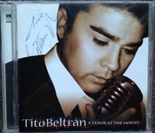 A TENOR AT THE MOVIES Soundtracks CD SIGNED BY Tito Beltran Mario Lanza Tribute