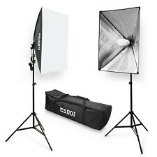 ESDDI Softbox Studio Lights 800W with 5500K Soft Lighting kit, Continuous Lig...