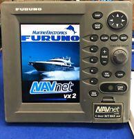 "Furuno RDP-148 NavNet VX2 7"" GPS Marine Radar Display W/ Cover; C-Map NT MAX"
