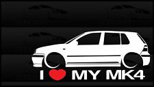 I Heart My MK4 Sticker Love VW Volkswagen Slammed Euro Germany Golf GTI 4 Door
