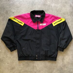 Vintage Vance and Hines jacket Race wear Zip Up Dunlop Multicolored Size Large