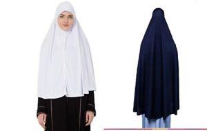 Muslim Women Prayer Hijab1 Piece Scarf, Khimar,Hajj &Umrah Ihram or Prayer Hijab