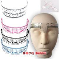 Reusable Eyebrow Stencil Microblading Makeup Measure Tattoo Ruler Semi Permanent