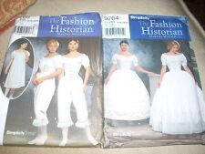 2 Ladies Patterns Simplicity 9764 9769 Civil War Undies szs 14-20 OOP UNCUT