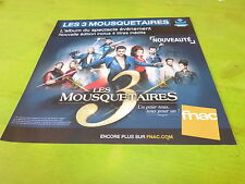 COMEDIE MUSICALE - LES 3 MOUSQUETAIRES!!!! PLV 30X30 CM !!FRENCH PROMO ADVERT!!