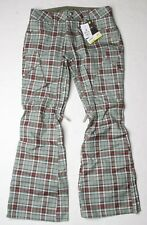 Burton Women Gloria Snowboard Pant (S) Moss Groupie Plaid