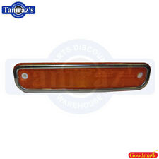 73-80 Chevy GMC C/K TRUCK Front Side Marker Assembly Amber W/Trim Goodmark New