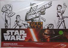 Disney Star Wars * Malblock *30 Blatt * 5 x 4 Platz-Sets * DIN A4 * Neu
