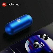 Motorola Blue VerveBuds Vb 400 Wireless Earbuds Cordless Bluetooth Headset