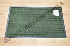 Estera de barrera Acanalado Verde 50 X 80 cm Parte Posterior de Goma Antideslizante Resistente Calidad
