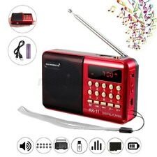 Portable Digital FM Radio LCD MP3 Player Speaker Rechargeable B TF 1200mAH  🔥!