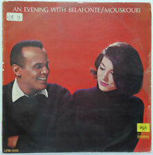 An Evening With Harry Belafonte / Nana Mouskouri LP RCA LPM-3415 Israel Press