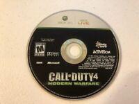 Call of Duty 4 Modern Warfare (Microsoft Xbox 360, 2007) - DISC ONLY