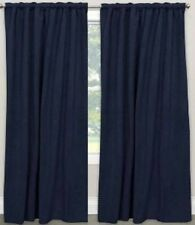 "SET OF 2 VELVET Window Drapes Curtains Navy Blue 52"" x  84"" Rod Extra Wide"