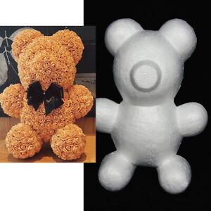 30CM Teddy Bear of Roses Valentine's Day Present Diy Wedding Bridal Foam Moulds