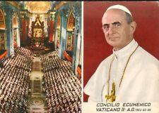 VATICAN VATICANO CARTE POSTALE PAPE PAUL VI CONCILIO ECUMENICO 1968