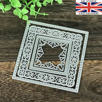 4 Piece Fancy Square Nesting metal cutting die cutter UK Seller Fast Posting