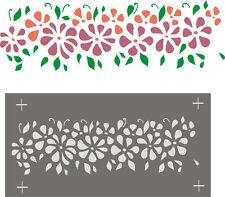 Schablonen Wanddekoration Stupfschablone Wandschablone Blüten - Blütenfries1