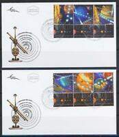 ISRAEL 2006 THE SOLAR SYSTEM STAMPS FROM SOUVENIR SHEET ON 2 FDC ASTRONOMY