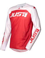 JUST1 J-FLEX ARIA MX MOTOCROSS JERSEY - RED / WHITE #695001007100102