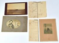 Mid 1800's Ephemera Lot Family Records Birth Death Cabinet Cards  Lithograph L2P