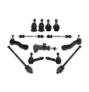 13 Pc Steering Kit for Cadillac Chevrolet GMC Tie Rod Ends Ball Joint Sway Bar