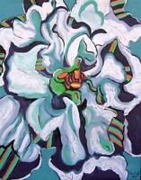 Spring FLOWER Original Fine Art PAINTING DAN BYL Modern Contemporary huge 4x5ft