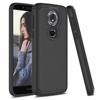 Hybrid Shockproof Rubber Armor Protective Case Cover For Motorola Moto G6 Play