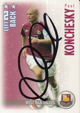 PAUL KONCHESKY HAND SIGNED WEST HAM 06/07 SHOOT OUT CARD 2006/2007.