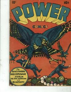 Power Comics #4    qualified fine-  (inside 1st page torn)  RARE L.B. Cole.