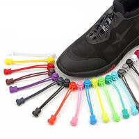 1pc Shoelaces Elastic Round Shoe Laces Trendy Sneakers Quick Locking Shoestrings
